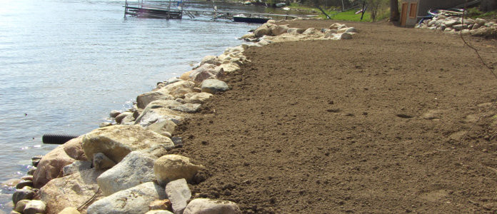 Boulder Seawalls Michigan